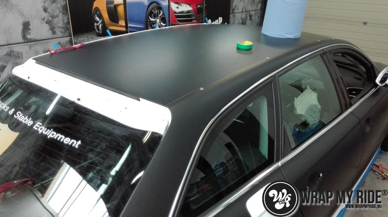 Audi A6 Station mat zwart, Carwrapping door Wrapmyride.nu Foto-nr:8178, ©2021
