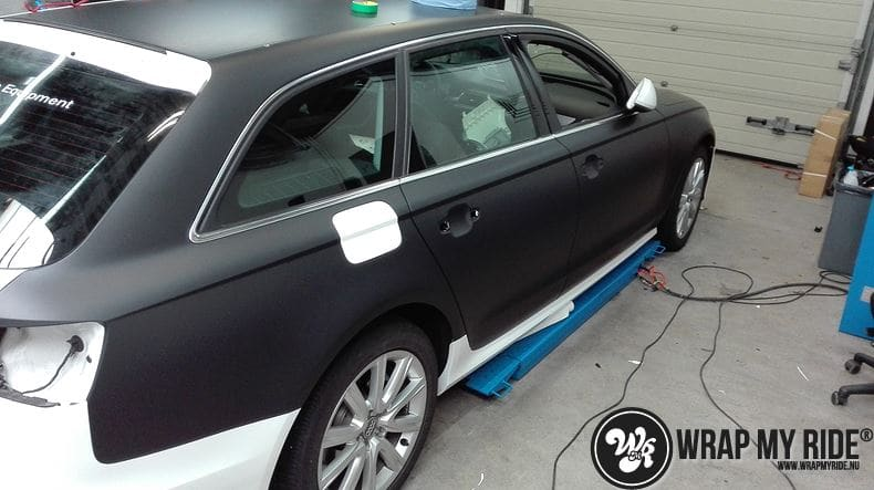 Audi A6 Station mat zwart, Carwrapping door Wrapmyride.nu Foto-nr:8179, ©2021