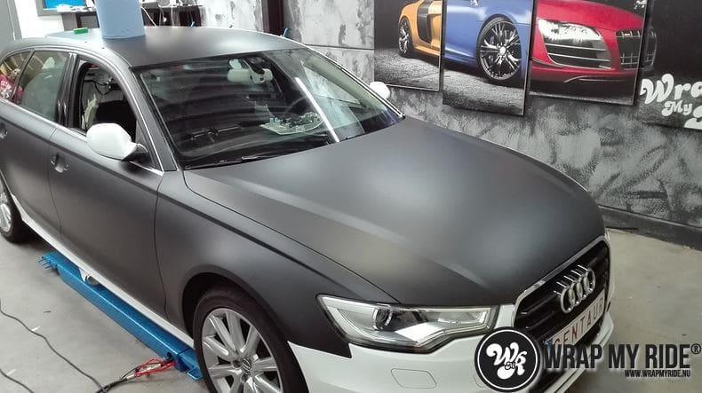 Audi A6 Station mat zwart, Carwrapping door Wrapmyride.nu Foto-nr:8180, ©2020