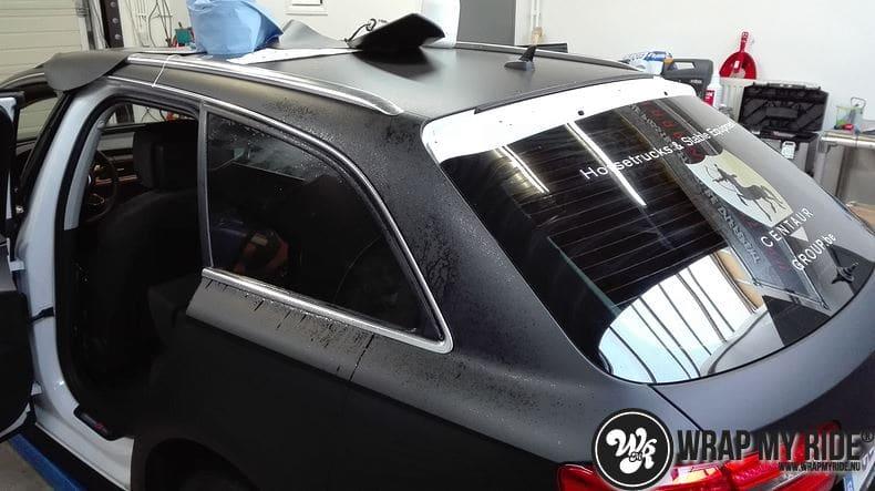 Audi A6 Station mat zwart, Carwrapping door Wrapmyride.nu Foto-nr:8181, ©2021