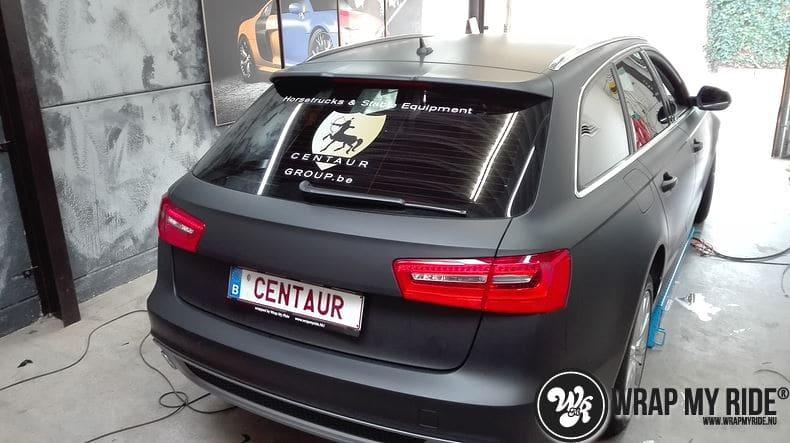 Audi A6 Station mat zwart, Carwrapping door Wrapmyride.nu Foto-nr:8182, ©2021