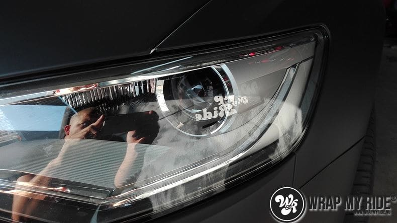 Audi A6 Station mat zwart, Carwrapping door Wrapmyride.nu Foto-nr:8189, ©2021