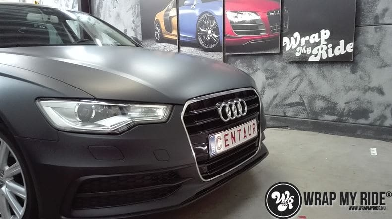 Audi A6 Station mat zwart, Carwrapping door Wrapmyride.nu Foto-nr:8191, ©2021