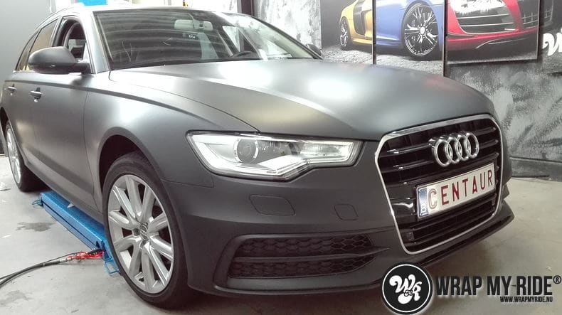 Audi A6 Station mat zwart, Carwrapping door Wrapmyride.nu Foto-nr:8192, ©2021