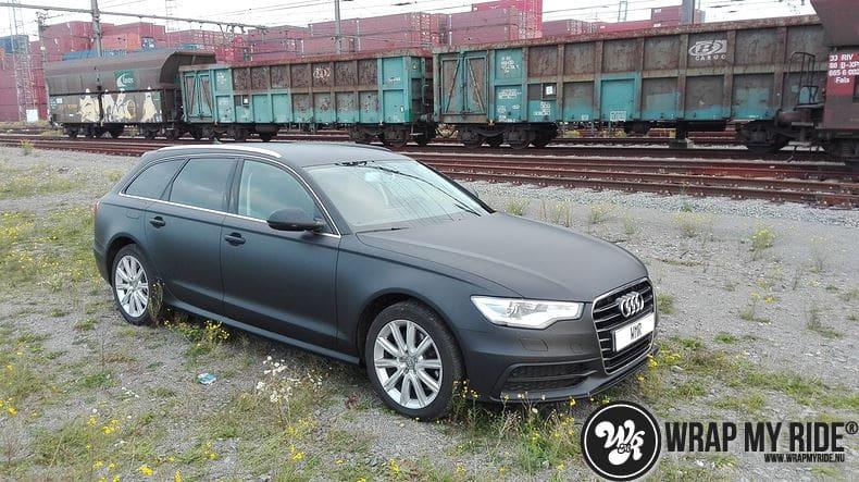 Audi A6 Station mat zwart, Carwrapping door Wrapmyride.nu Foto-nr:8193, ©2021