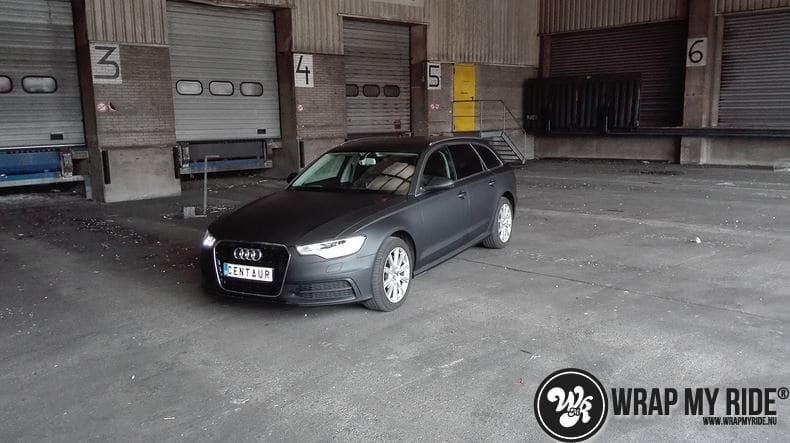 Audi A6 Station mat zwart, Carwrapping door Wrapmyride.nu Foto-nr:8194, ©2020
