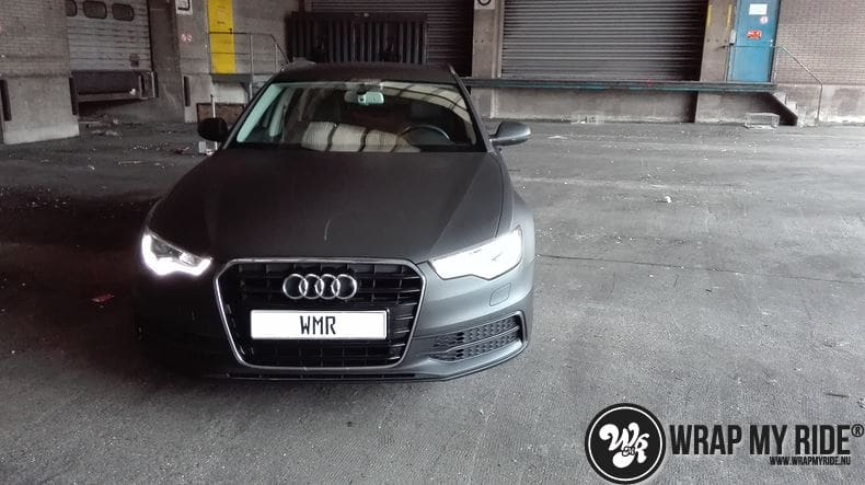 Audi A6 Station mat zwart, Carwrapping door Wrapmyride.nu Foto-nr:8195, ©2021