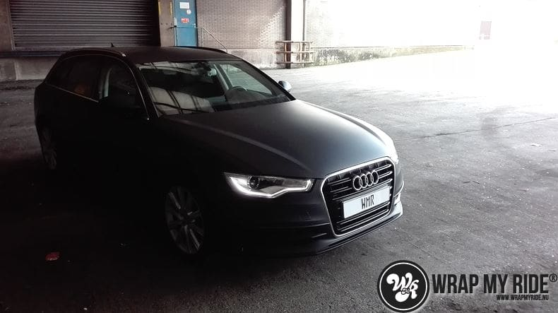 Audi A6 Station mat zwart, Carwrapping door Wrapmyride.nu Foto-nr:8196, ©2021