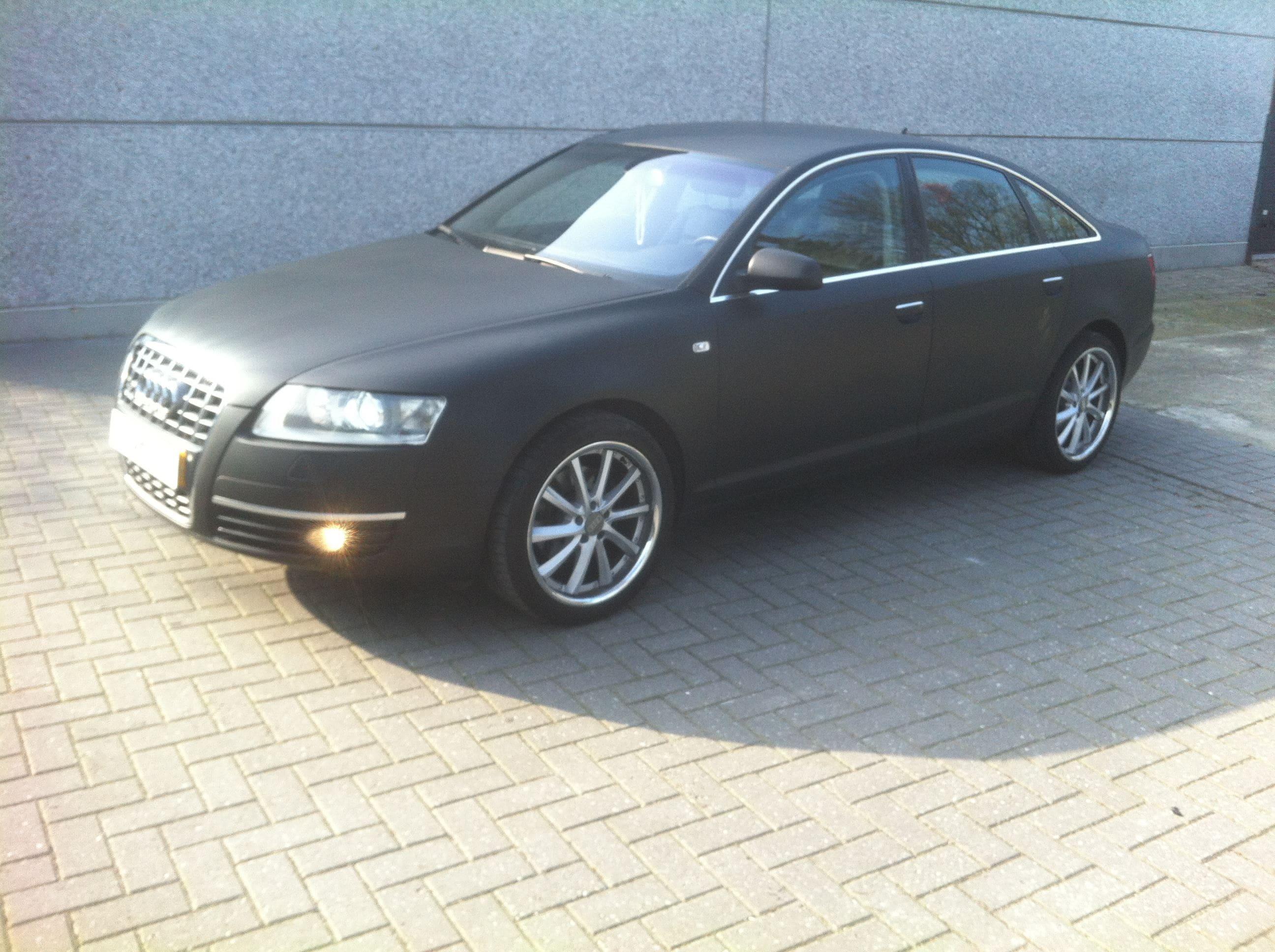 Audi A6 van Wit naar Mat Zwart, Carwrapping door Wrapmyride.nu Foto-nr:4810, ©2021