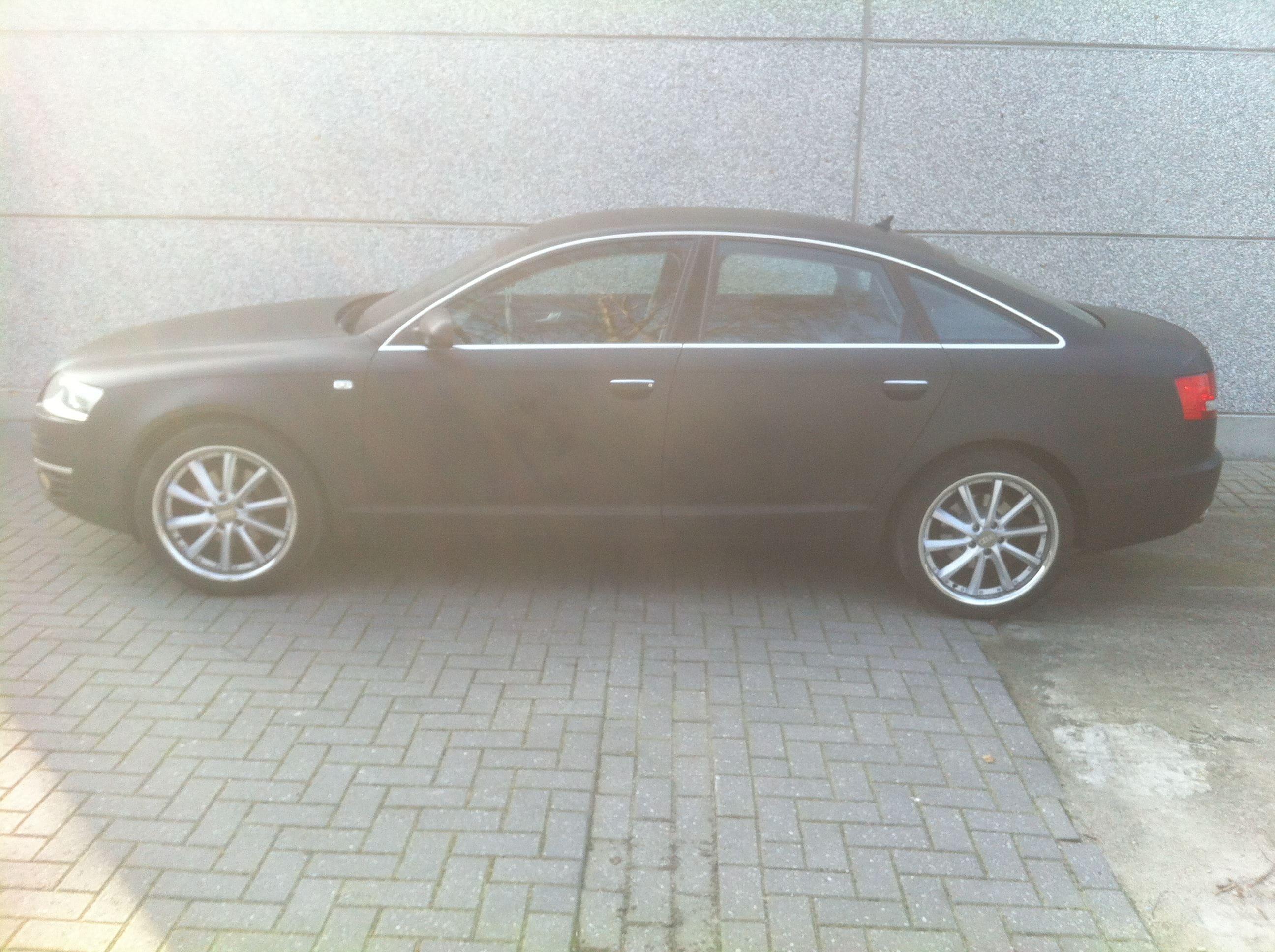 Audi A6 van Wit naar Mat Zwart, Carwrapping door Wrapmyride.nu Foto-nr:4811, ©2021