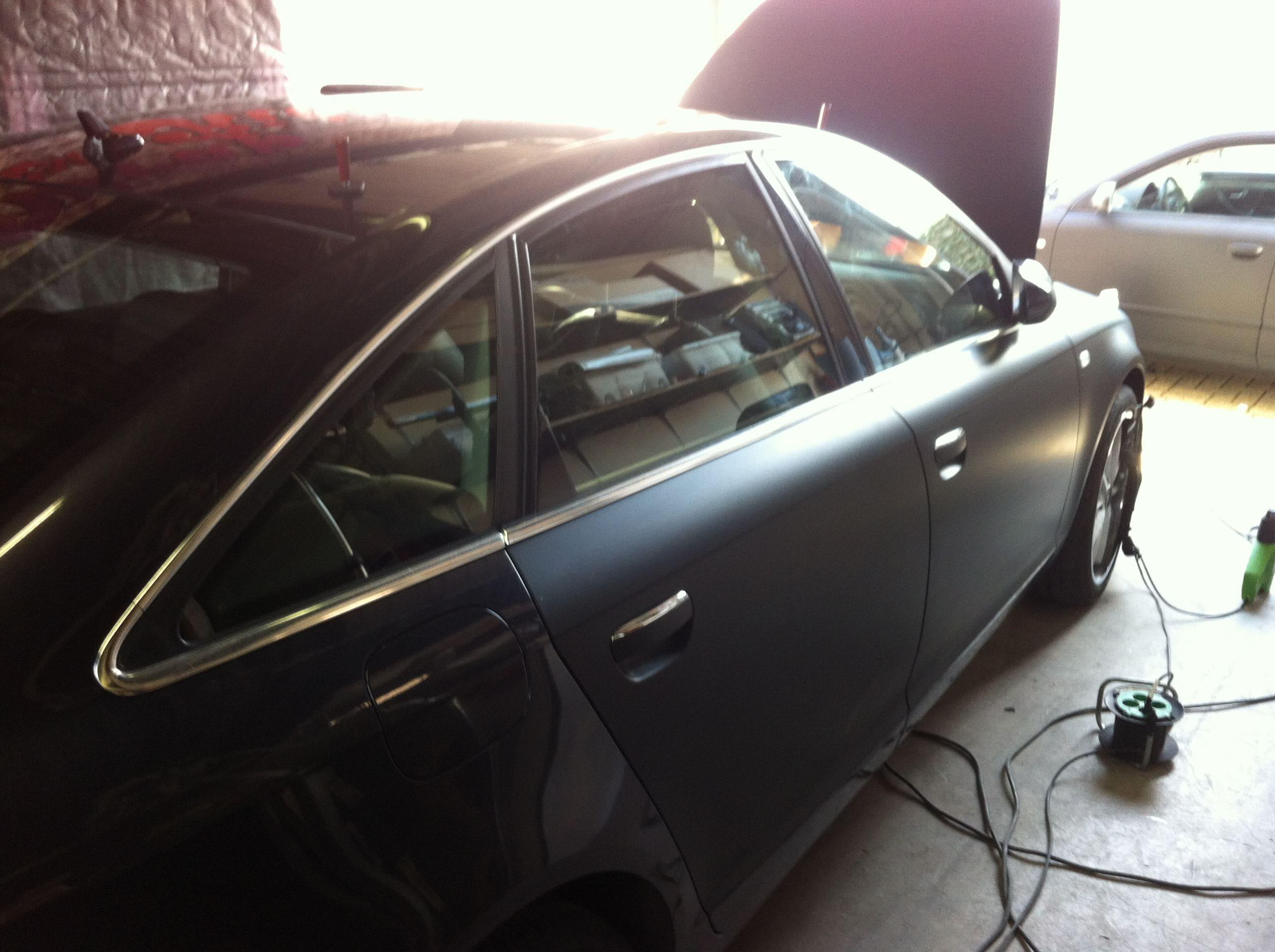 Audi A6 van Wit naar Mat Zwart, Carwrapping door Wrapmyride.nu Foto-nr:4813, ©2021
