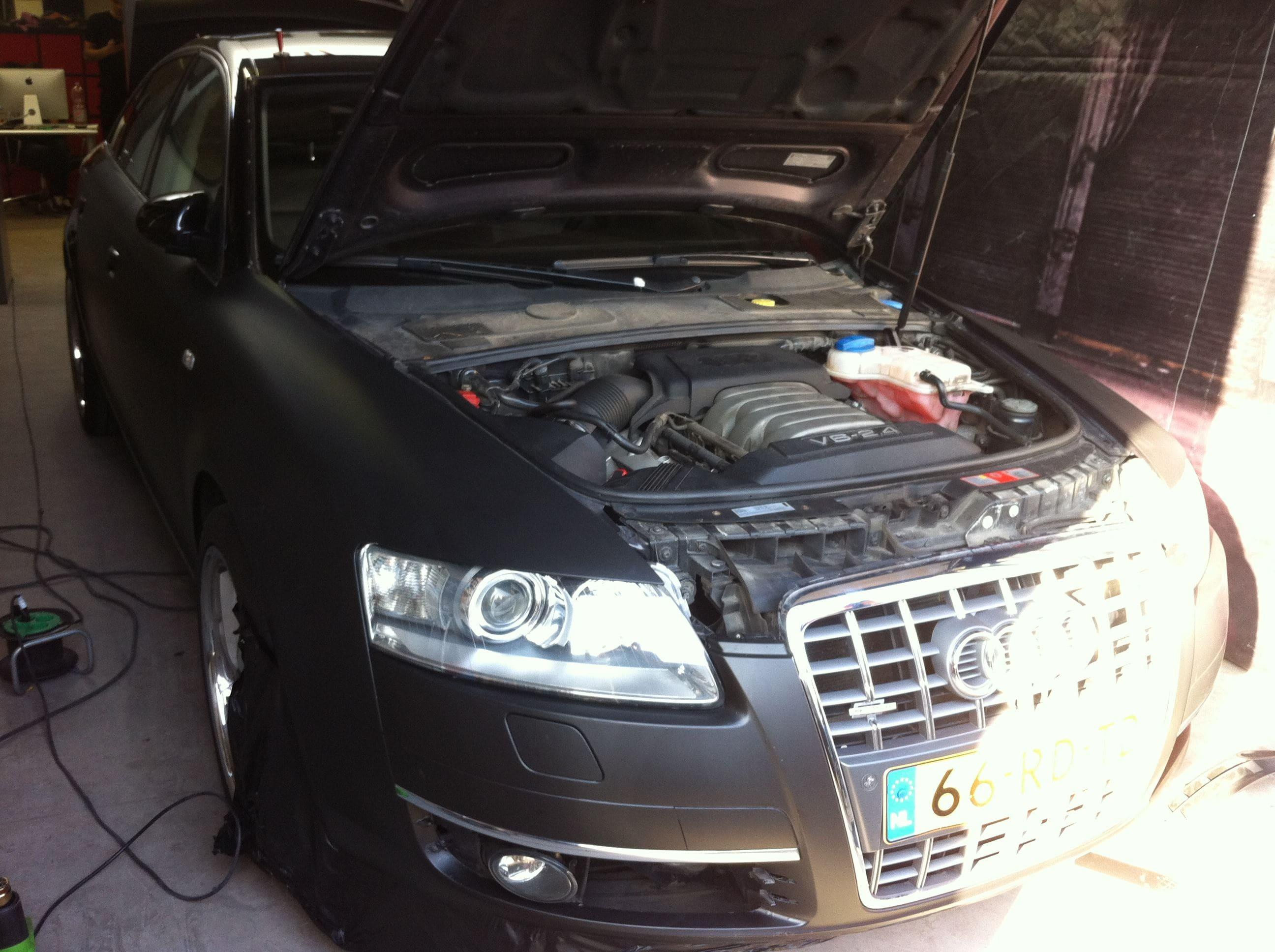 Audi A6 van Wit naar Mat Zwart, Carwrapping door Wrapmyride.nu Foto-nr:4815, ©2021