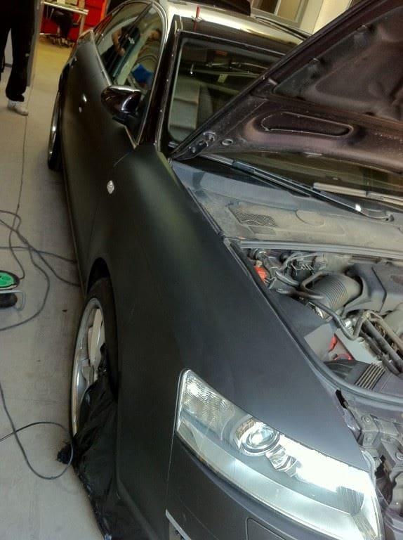 Audi A6 van Wit naar Mat Zwart, Carwrapping door Wrapmyride.nu Foto-nr:4817, ©2021