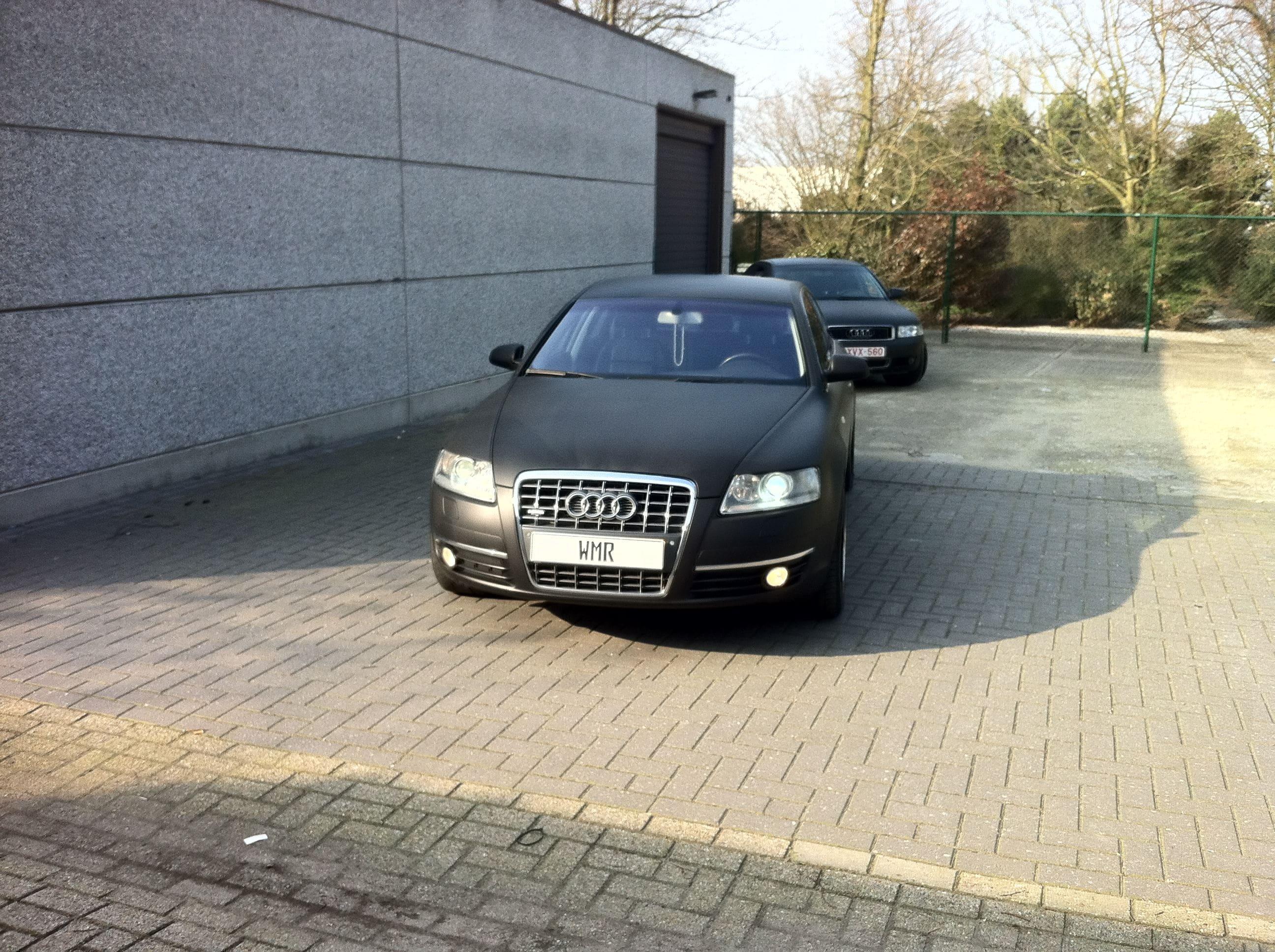 Audi A6 van Wit naar Mat Zwart, Carwrapping door Wrapmyride.nu Foto-nr:4819, ©2021
