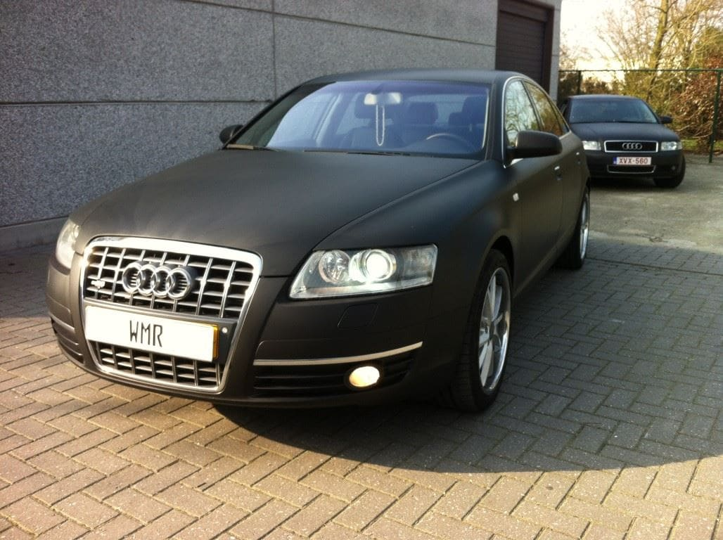 Audi A6 van Wit naar Mat Zwart, Carwrapping door Wrapmyride.nu Foto-nr:4820, ©2021