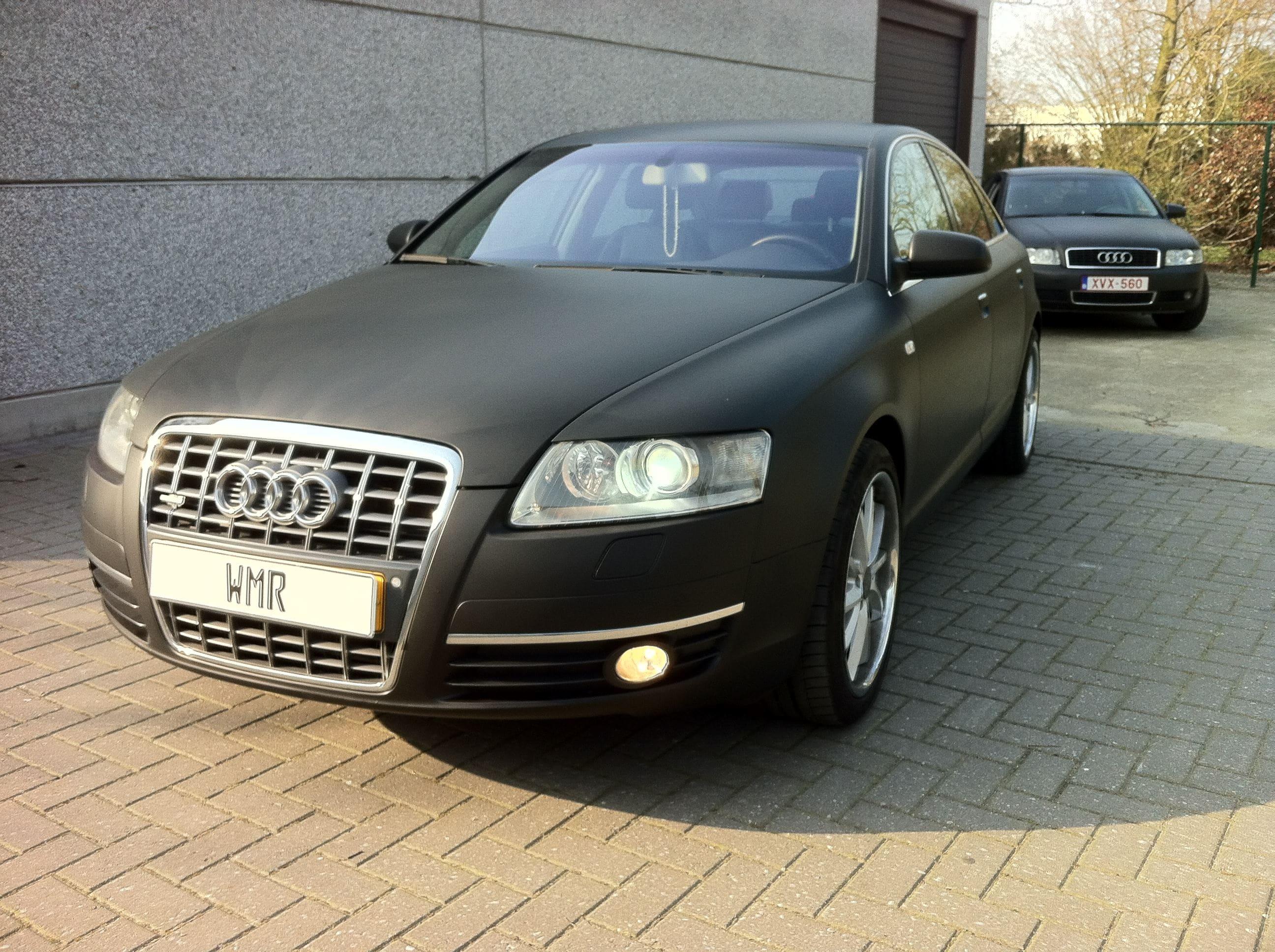 Audi A6 van Wit naar Mat Zwart, Carwrapping door Wrapmyride.nu Foto-nr:4821, ©2021