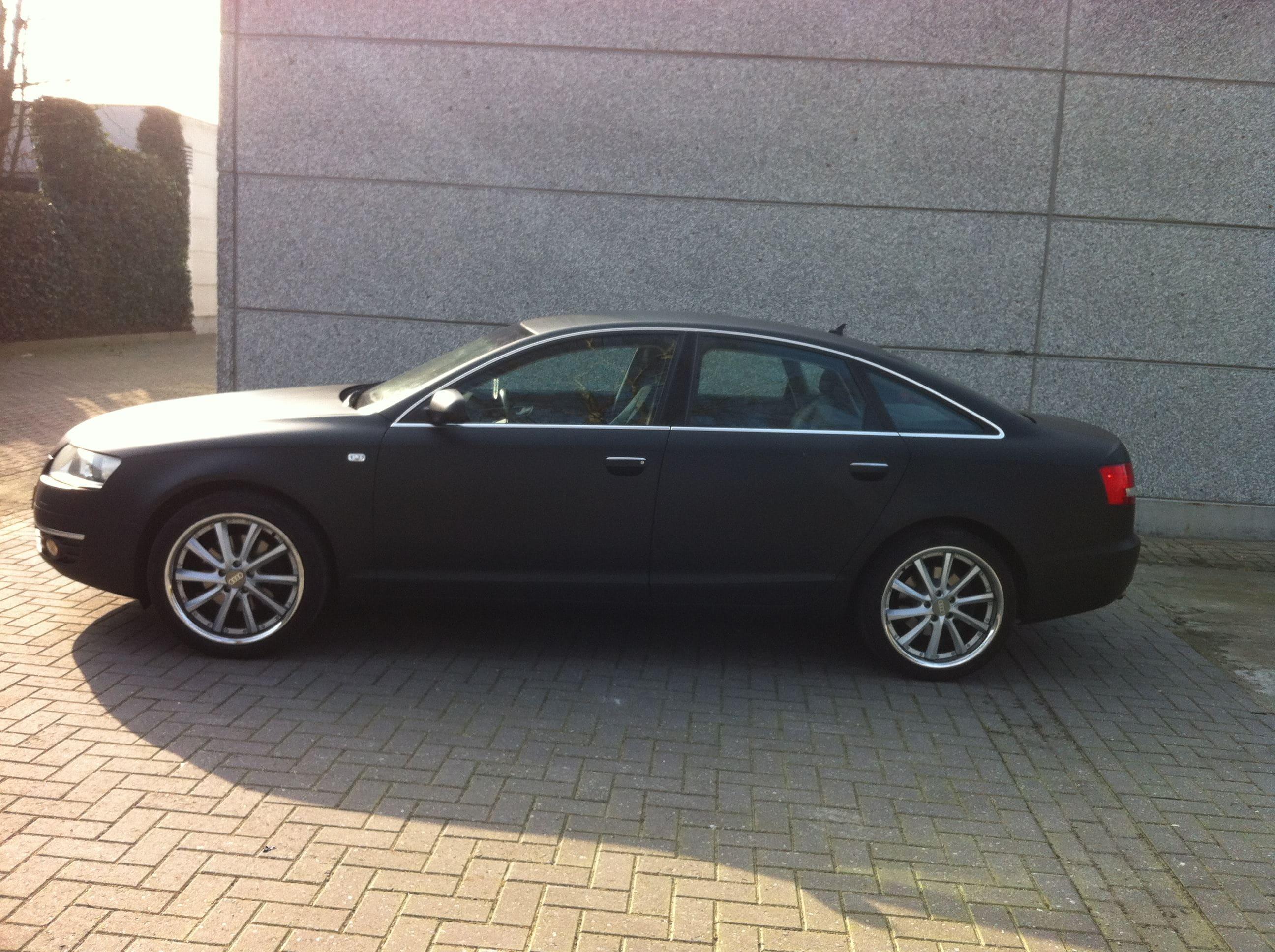 Audi A6 van Wit naar Mat Zwart, Carwrapping door Wrapmyride.nu Foto-nr:4822, ©2021
