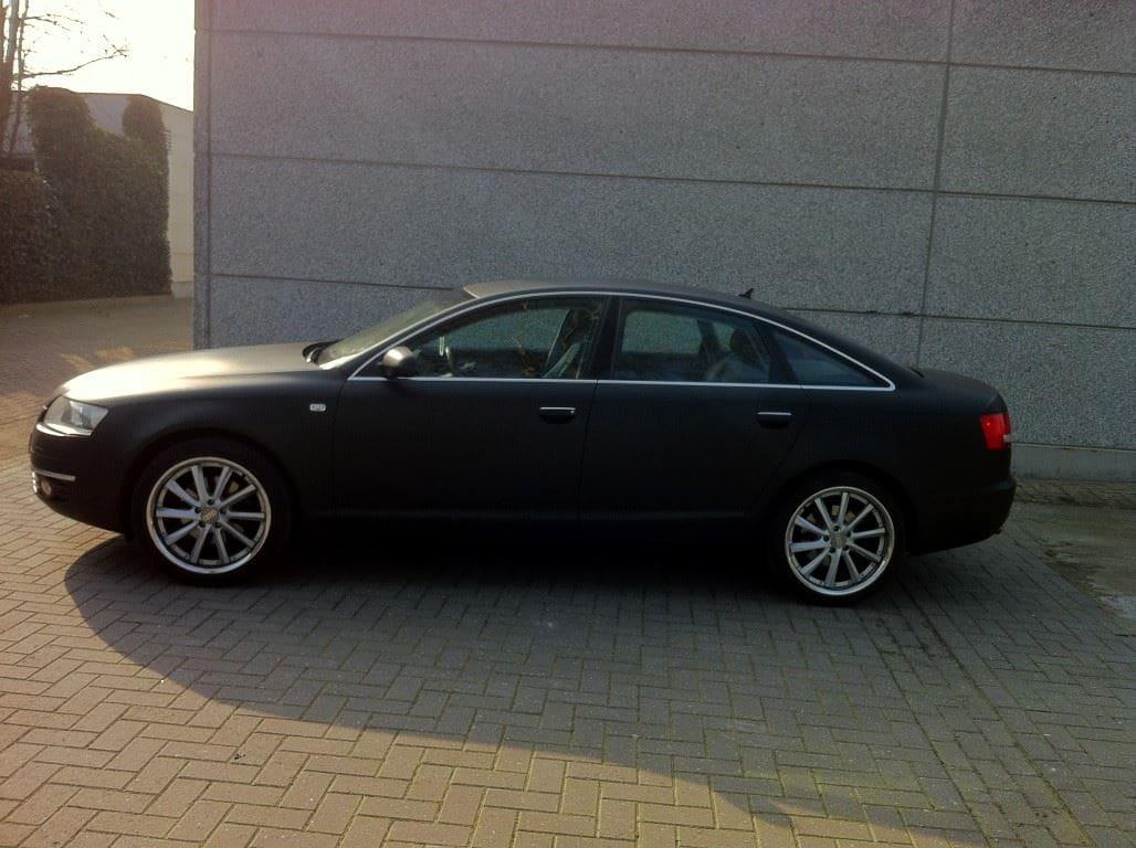 Audi A6 van Wit naar Mat Zwart, Carwrapping door Wrapmyride.nu Foto-nr:4823, ©2021