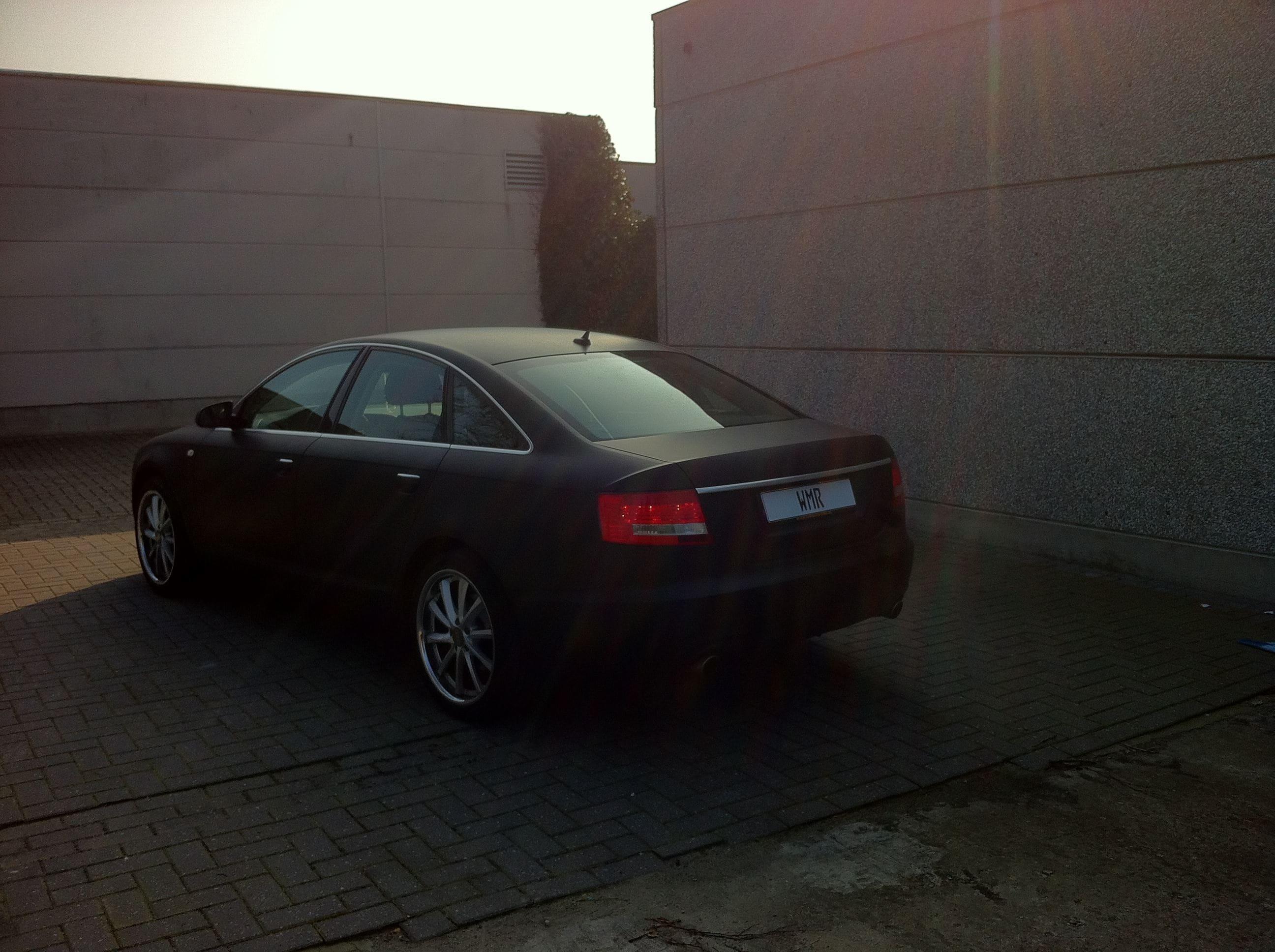 Audi A6 van Wit naar Mat Zwart, Carwrapping door Wrapmyride.nu Foto-nr:4824, ©2021