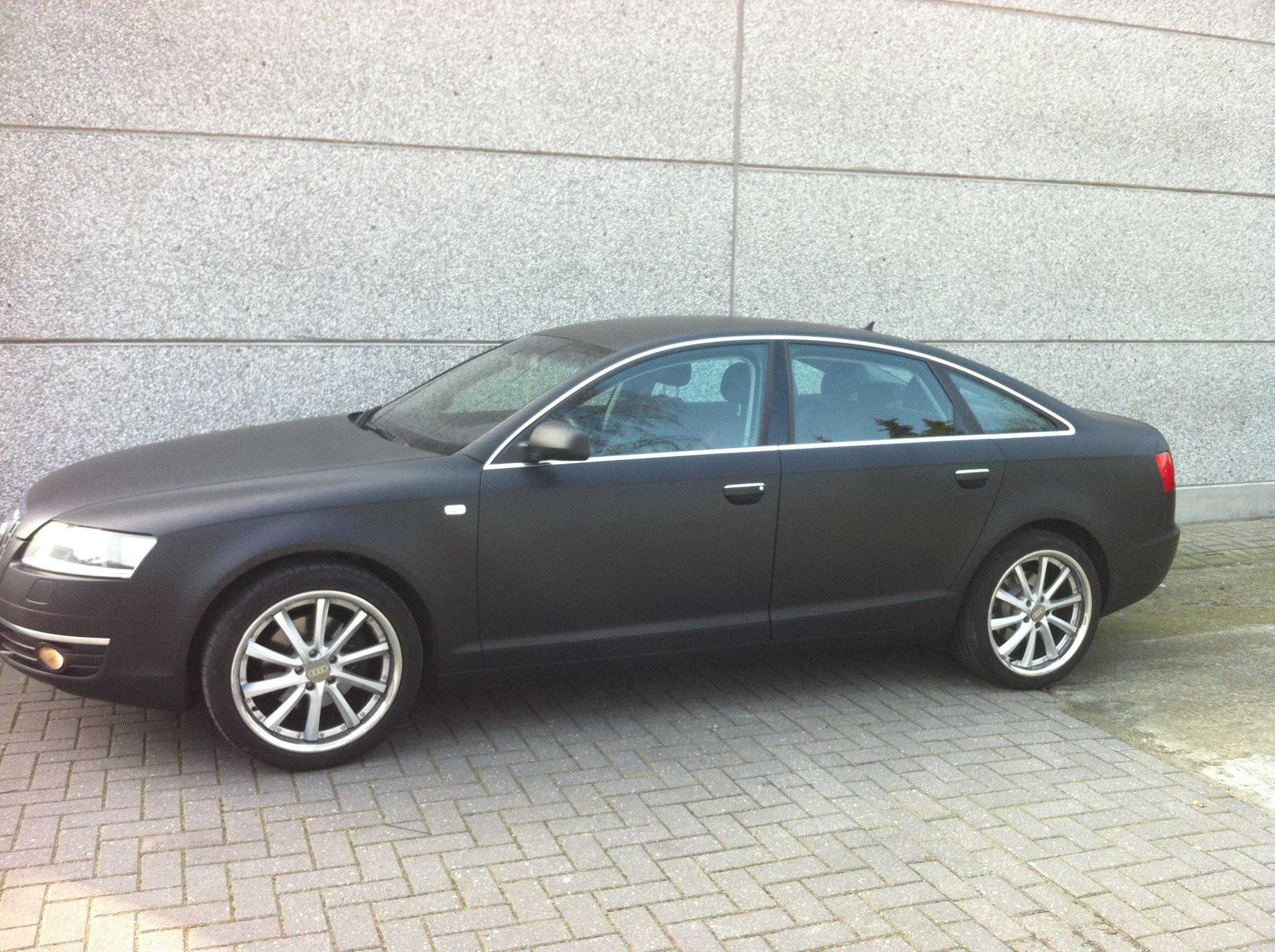 Audi A6 van Wit naar Mat Zwart, Carwrapping door Wrapmyride.nu Foto-nr:4825, ©2021
