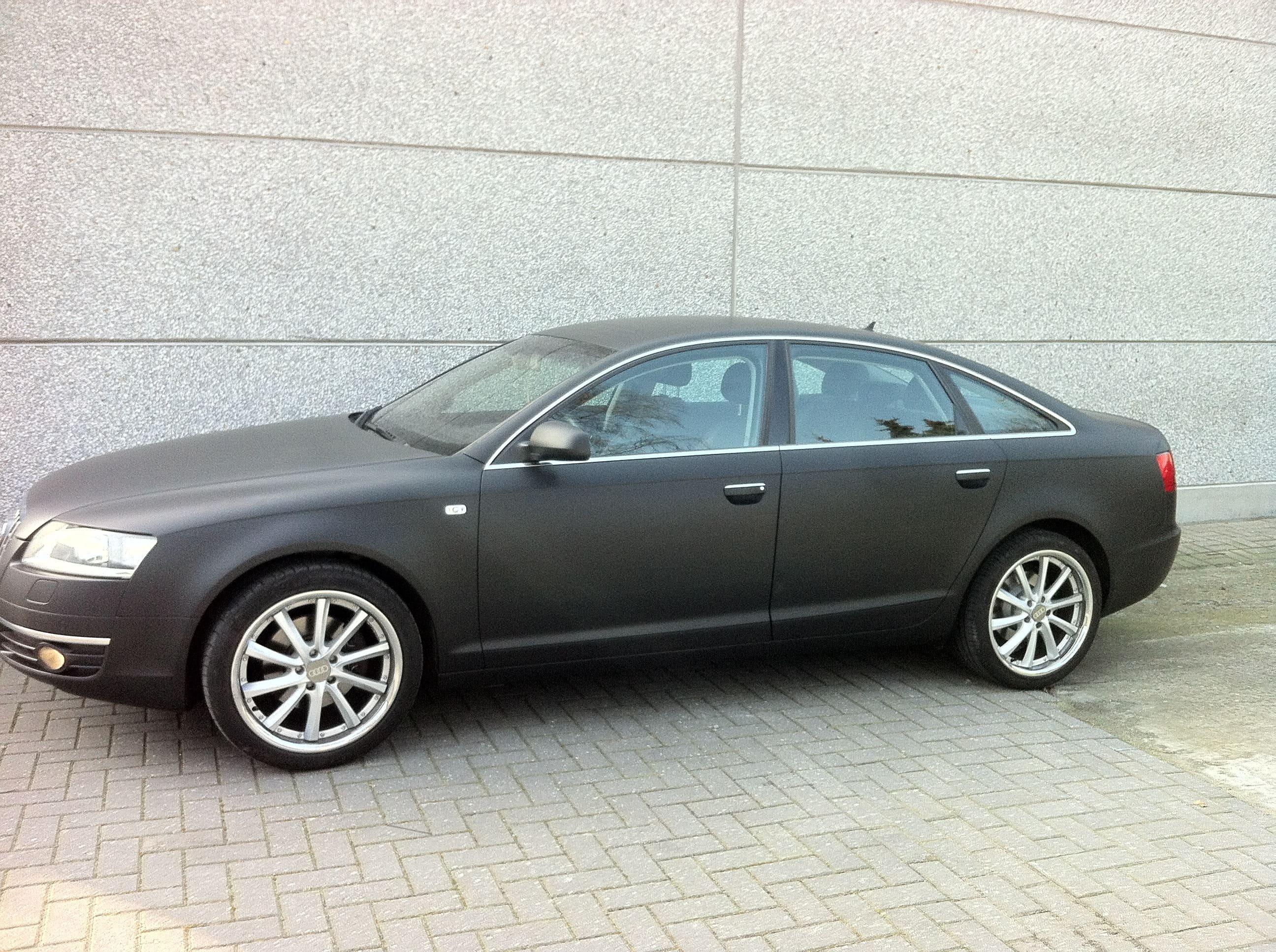Audi A6 van Wit naar Mat Zwart, Carwrapping door Wrapmyride.nu Foto-nr:4826, ©2021