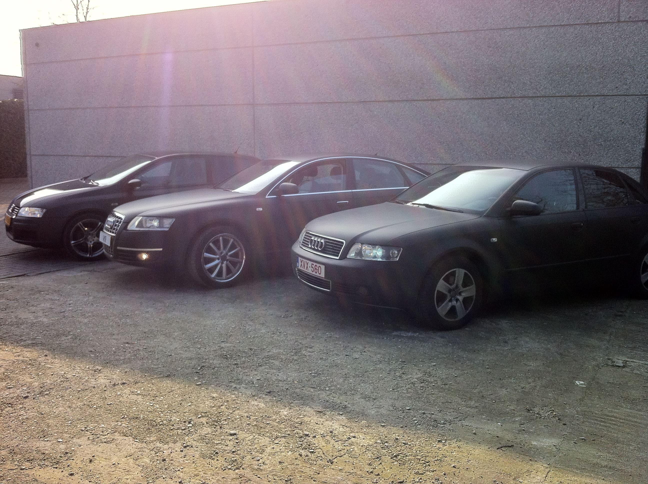 Audi A6 van Wit naar Mat Zwart, Carwrapping door Wrapmyride.nu Foto-nr:4836, ©2021