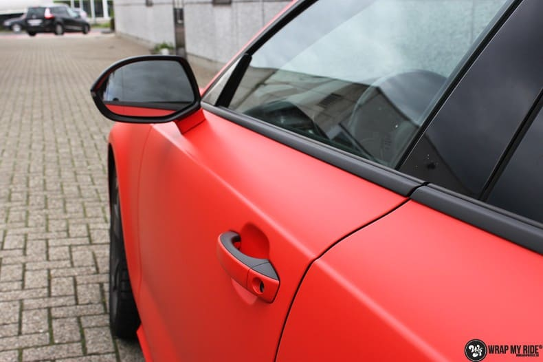 Audi A7 matte hotrod red, Carwrapping door Wrapmyride.nu Foto-nr:10283, ©2018