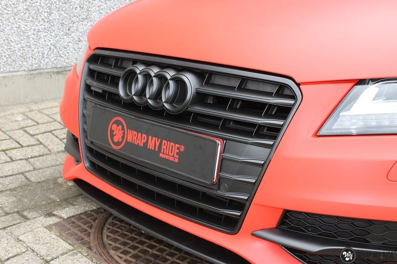 Audi A7 matte hotrod red, Carwrapping door Wrapmyride.nu Foto-nr:10281, ©2020