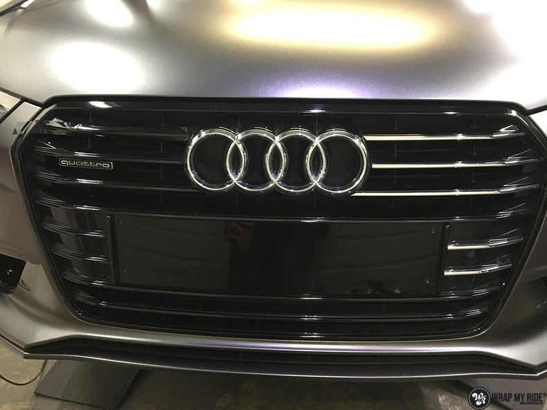 Audi A7 S-line Satin Dark Grey, Carwrapping door Wrapmyride.nu Foto-nr:10579, ©2020