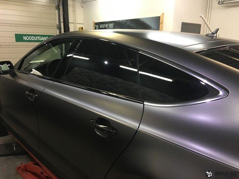 Audi A7 S-line Satin Dark Grey, Carwrapping door Wrapmyride.nu Foto-nr:10586, ©2018