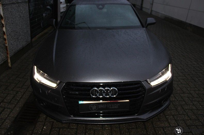 Audi A7 S-line Satin Dark Grey, Carwrapping door Wrapmyride.nu Foto-nr:10576, ©2020
