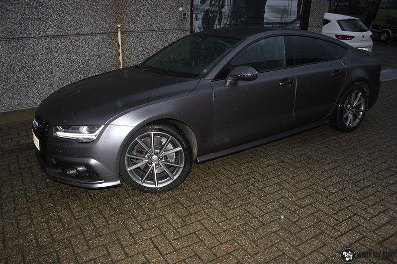 Audi A7 S-line Satin Dark Grey, Carwrapping door Wrapmyride.nu Foto-nr:10574, ©2018