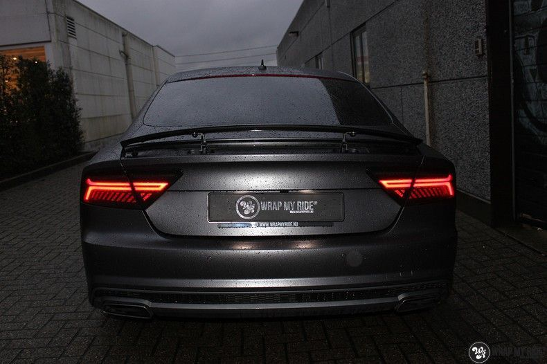Audi A7 S-line Satin Dark Grey, Carwrapping door Wrapmyride.nu Foto-nr:10572, ©2020