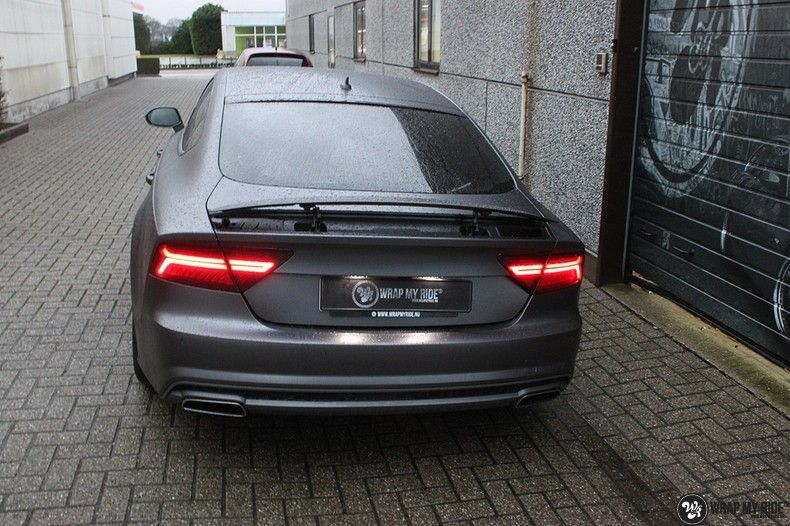 Audi A7 S-line Satin Dark Grey, Carwrapping door Wrapmyride.nu Foto-nr:10570, ©2020