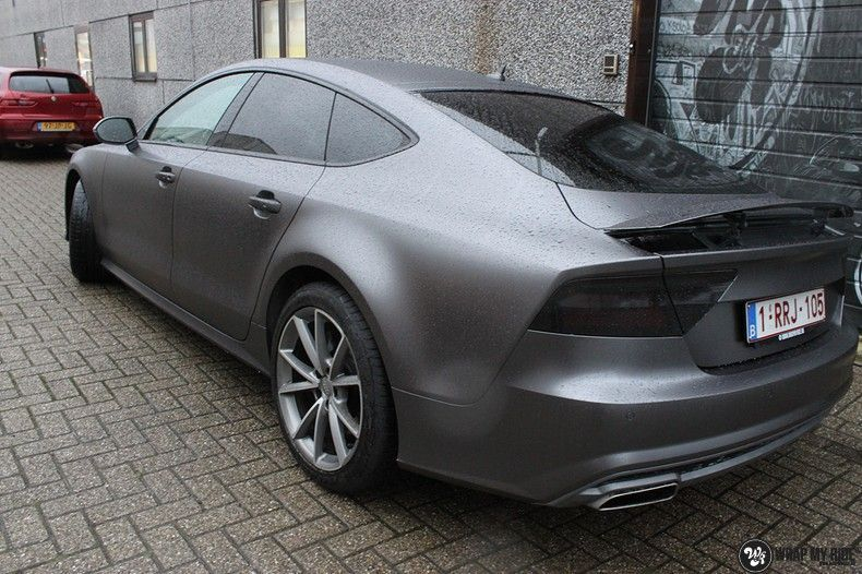 Audi A7 S-line Satin Dark Grey, Carwrapping door Wrapmyride.nu Foto-nr:10558, ©2020