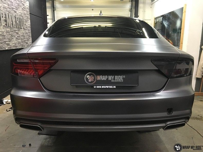 Audi A7 S-line Satin Dark Grey, Carwrapping door Wrapmyride.nu Foto-nr:10580, ©2020