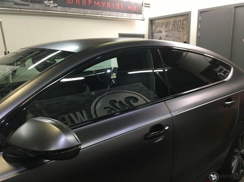 Audi A7 S-line Satin Dark Grey, Carwrapping door Wrapmyride.nu Foto-nr:10584, ©2018