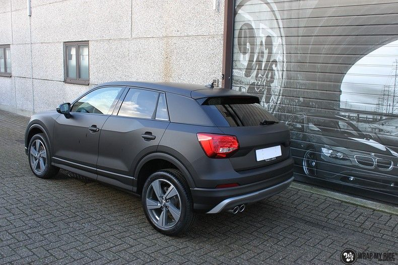 Audi Q2 Matte black, Carwrapping door Wrapmyride.nu Foto-nr:10608, ©2020