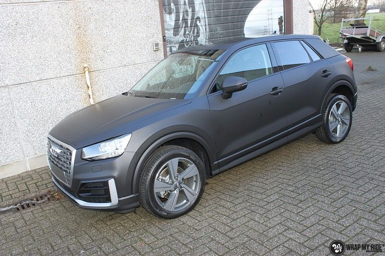 Audi Q2 Matte black, Carwrapping door Wrapmyride.nu Foto-nr:10606, ©2020