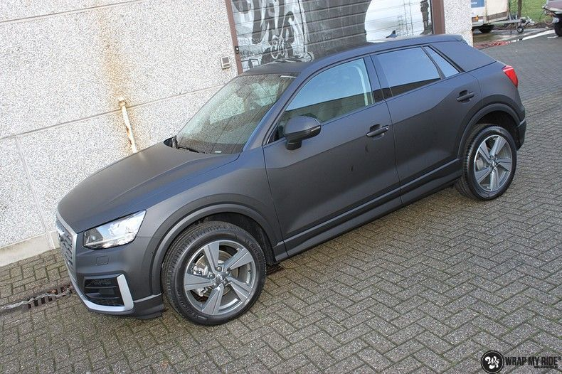 Audi Q2 Matte black, Carwrapping door Wrapmyride.nu Foto-nr:10605, ©2020
