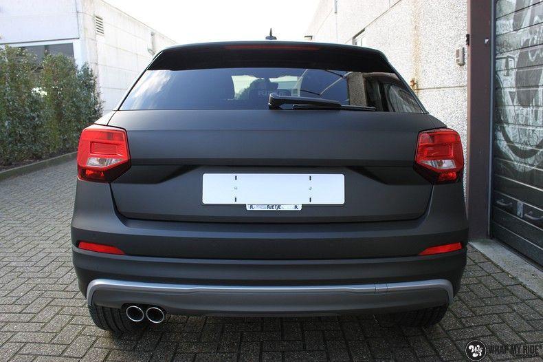 Audi Q2 Matte black, Carwrapping door Wrapmyride.nu Foto-nr:10599, ©2020