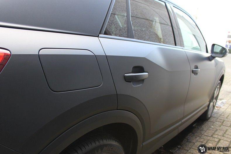Audi Q2 Matte black, Carwrapping door Wrapmyride.nu Foto-nr:10594, ©2021