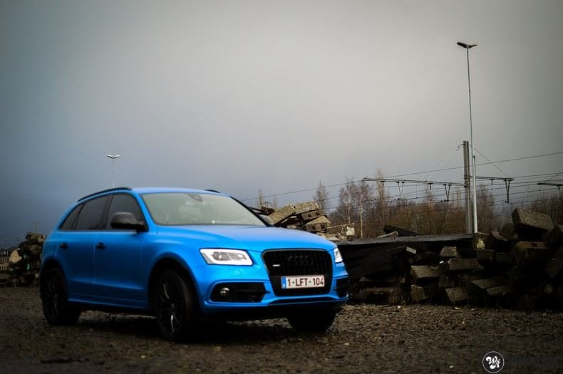 Audi Q5 Satin Perfect Bleu, Carwrapping door Wrapmyride.nu Foto-nr:9481, ©2019