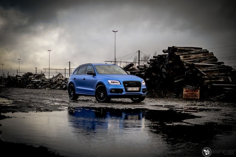 Audi Q5 Satin Perfect Bleu, Carwrapping door Wrapmyride.nu Foto-nr:9483, ©2019