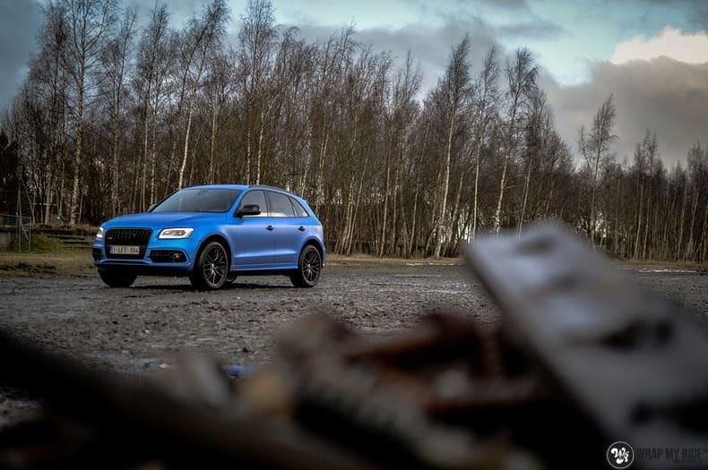Audi Q5 Satin Perfect Bleu, Carwrapping door Wrapmyride.nu Foto-nr:9486, ©2020