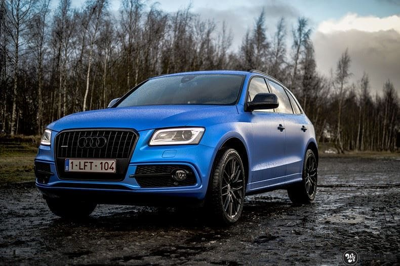 Audi Q5 Satin Perfect Bleu, Carwrapping door Wrapmyride.nu Foto-nr:9487, ©2019