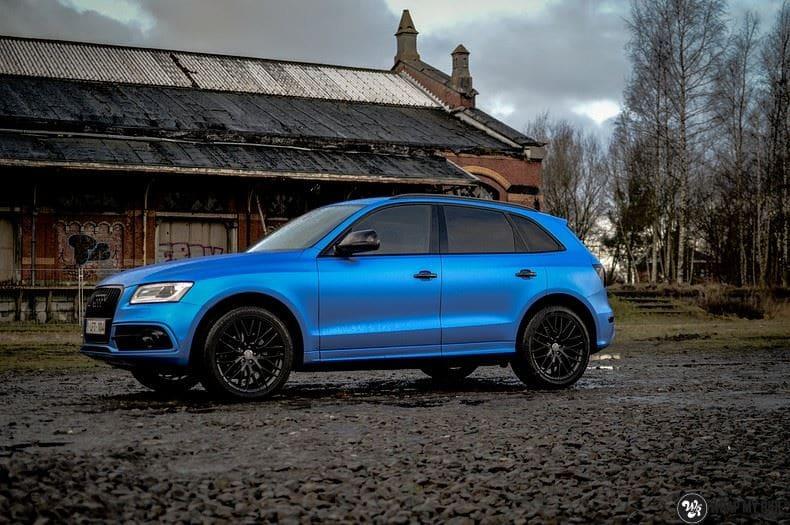 Audi Q5 Satin Perfect Bleu, Carwrapping door Wrapmyride.nu Foto-nr:9488, ©2020