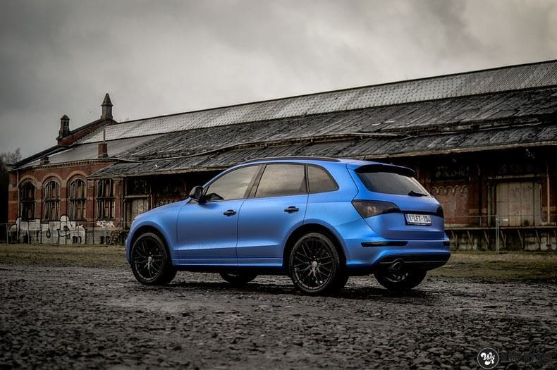 Audi Q5 Satin Perfect Bleu, Carwrapping door Wrapmyride.nu Foto-nr:9489, ©2020