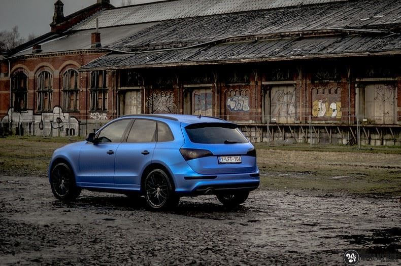 Audi Q5 Satin Perfect Bleu, Carwrapping door Wrapmyride.nu Foto-nr:9490, ©2021