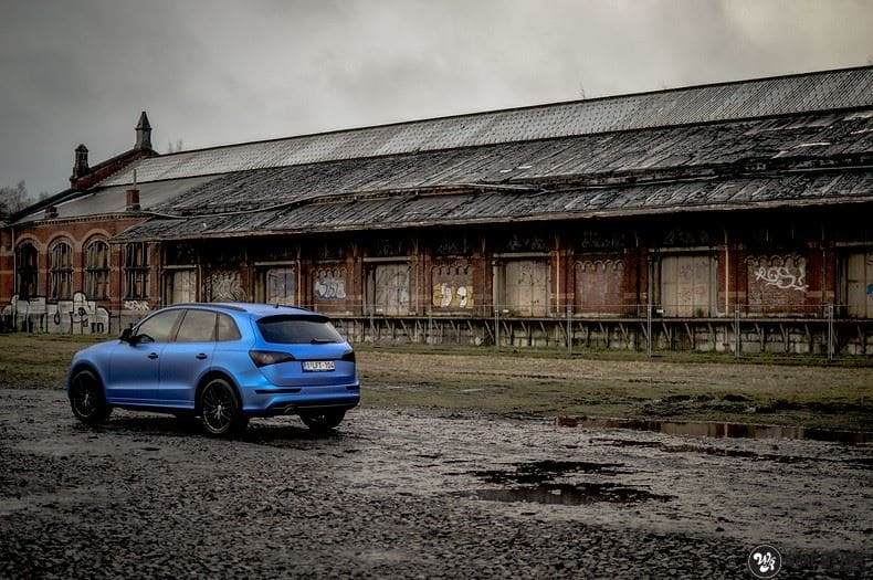 Audi Q5 Satin Perfect Bleu, Carwrapping door Wrapmyride.nu Foto-nr:9491, ©2019